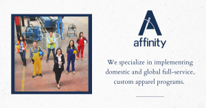 Corporate Apparel & PPE Workwear brand, Affinity, Announce a New Look and Invest in a State-of-the-art Headquarters, Manufacturing and Global Distribution Center
